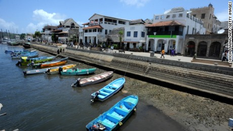 Boats docking at the sea front on October 2, 2011 at Ras Gitau, in Manda, Lamu archipelago. Kenya has sent mediators to Somalia to negotiate the release of a disabled Frenchwoman abducted Saturday from her beachfront resort home, a security official said.