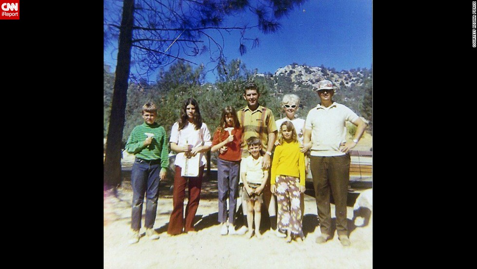 "<a href=""http://ireport.cnn.com/docs/DOC-1119538"">Regina Pierce </a>dubbed this 1968 family trip the ""flower power camping trip"" to Simi Valley, California. Pierce is the blond girl on the front right. ""In those days, everyone in the neighborhood knew each other (and their kids),"" she said. ""It wasn't unusual for the families to not only socialize, but yes, even go camping together!"""