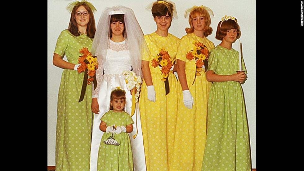 "<a href=""http://ireport.cnn.com/docs/DOC-1119574"">Onie Ward'</a>s older sister married her high school sweetheart in November 1969. Ward, second from right, and her mother made all the dresses pictured."