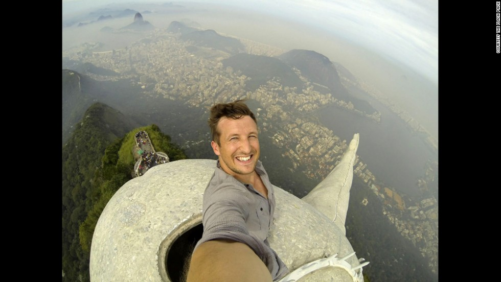 "Photographer Lee Thompson snapped this selfie and <a href=""https://twitter.com/snapperlee/status/472050619969449984/photo/1"" target=""_blank"">tweeted it to the world</a> while he was atop the Christ the Redeemer statue in Rio de Janeiro on Thursday, May 29. The statue, at the top of Corcovado Mountain, was named one of the new Seven Wonders of the World in 2007. ""Best selfie I've ever seen,"" CNN's Brooke Baldwin said <a href=""http://www.cnn.com/video/?/video/world/2014/06/02/nr-intv-lee-thompson-brazil-statue-selfie.cnn"" target=""_blank"">during an interview</a> with Thompson on Monday, June 2."
