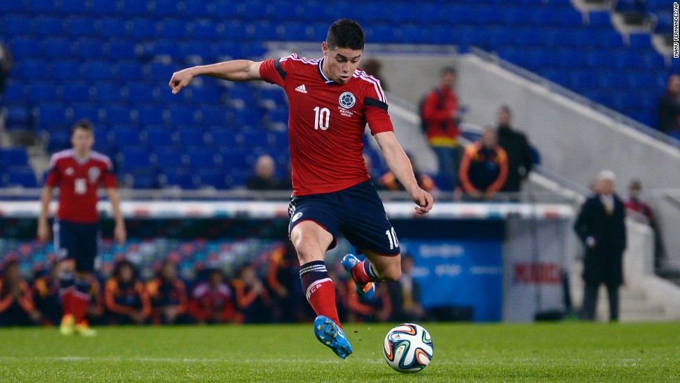 <strong>James Rodriguez (Colombia):</strong> He looks like a kid but brings a mature game for a 22-year-old. Lightning-quick with deft ball control and passing, he's earned lofty comparisons to Colombian demigod Carlos Valderrama. Days before his 19th birthday in 2010, Rodriguez joined Porto, where he played three seasons before Monaco paid €45 million for his transfer. He notched 10 goals and 12 assists for the French side this season.