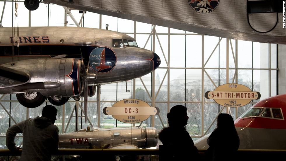 The Smithsonian National Air and Space Museum in Washington received almost 7 million visitors in 2013.