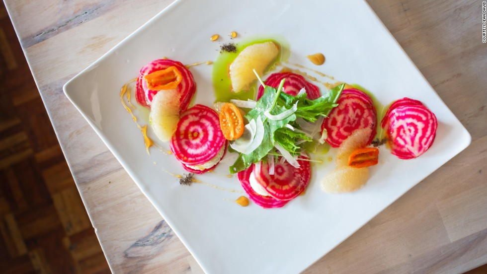 Vancouver's diverse crop of vegetarian restaurants includes The Acorn, which serves artfully composed dishes that taste as good as they look.