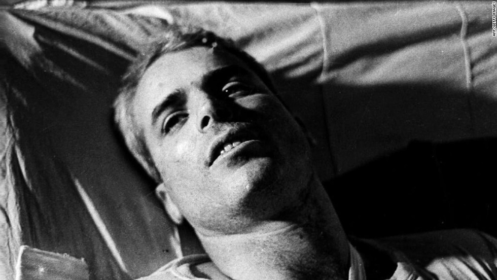 In early 1973, nearly 600 prisoners of war who'd been captured in Vietnam, Laos and Cambodia returned home to the United States. Many of them later made their mark on the world, but none is more widely recognizable than John McCain. The Viet Cong shot down his Navy fighter jet in 1967, then shuttled him around prison camps and tortured him. McCain remained in the Navy after his release until 1981. The next year, he was elected to the U.S. House of Representatives from Arizona; four years later, he became a U.S. senator, a job he still has today. He won the Republican nomination for president in 2008.