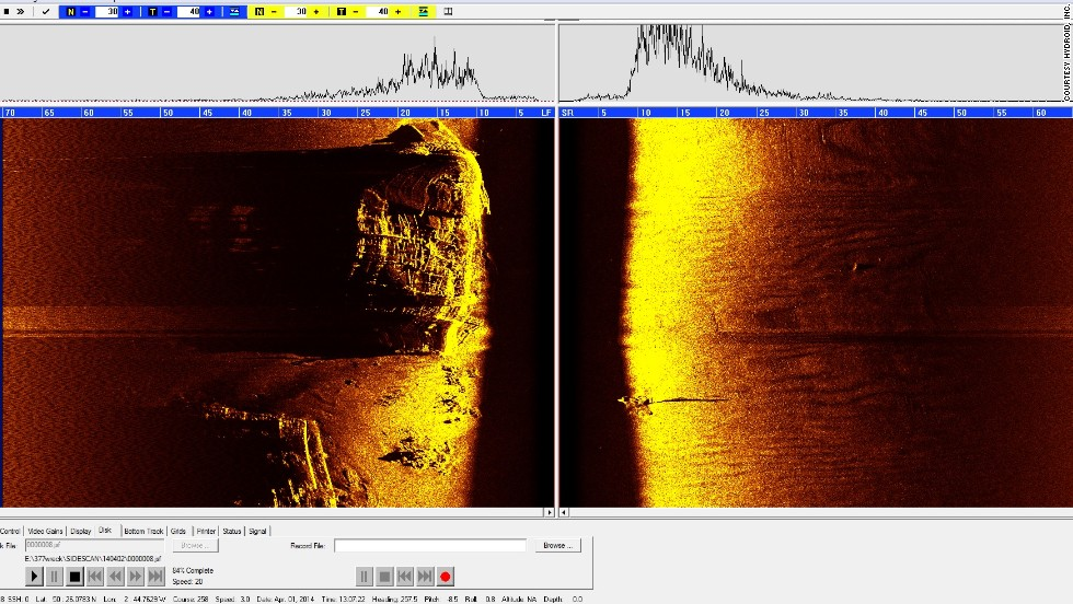 These are the first high-definition sonar images taken of the sunken ships.