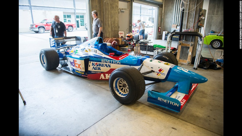 Here's a 1986 Benetton Formula One racer once piloted by international champion Gerhard Berger.