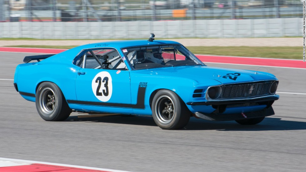 A 1970 Boss Mustang 302 owned by Curt Vogt, who will co-drive it at the invitational with seven-time Indy 500 starter Lyn St. James.