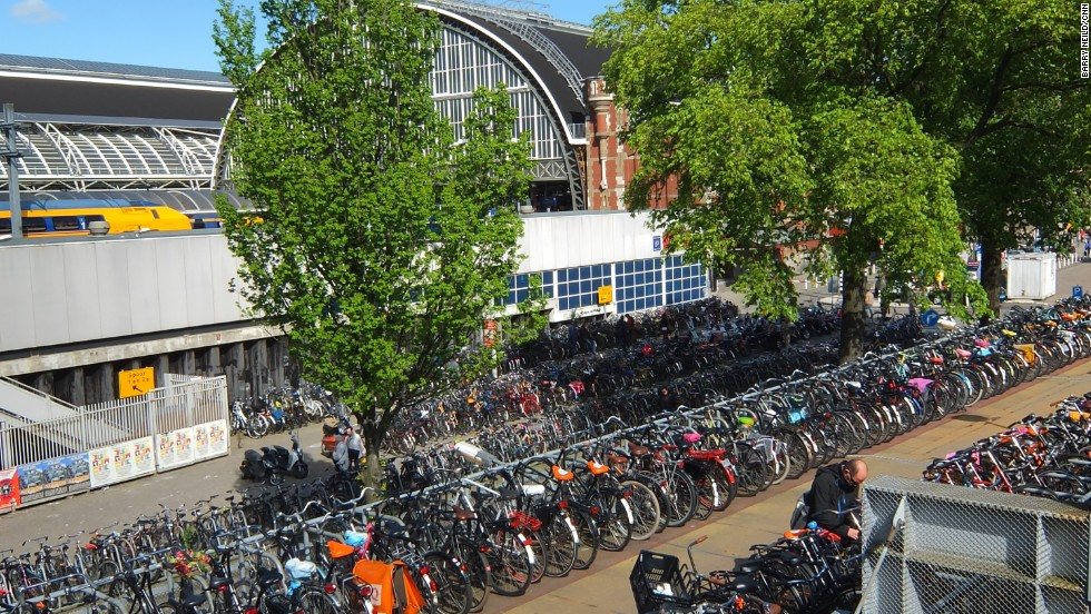 Another huge facility outside the city's central station houses so many bikes it might be easier buying a new one rather than spending four days trying to remember where your old one is parked.