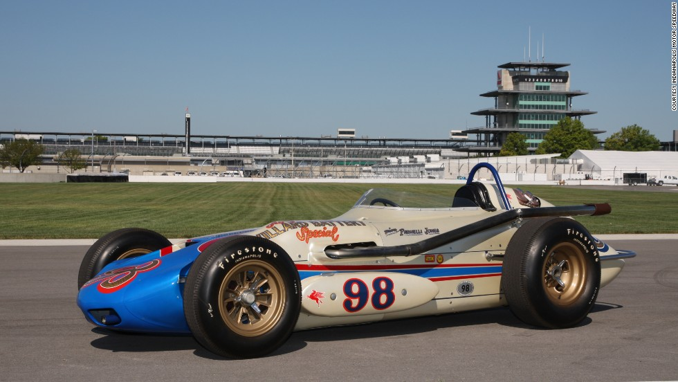 "Parnelli Jones piloted this sweet ride to win the Indy 500 way back in 1963. They named it ""Ol' Calhoun."" It's a reference to an old joke about a football running back who doesn't want to take the ball."