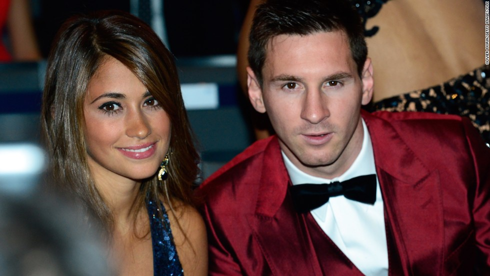 Messi is one of the highest earning football players in the world, recently signing a $50 million-a-year deal with Barcelona. Off the field, his heart lies with Argentine girlfriend Antonella Roccuzzo and their one-year-old son Thiago, whose hand prints he even had tattooed on his left leg.