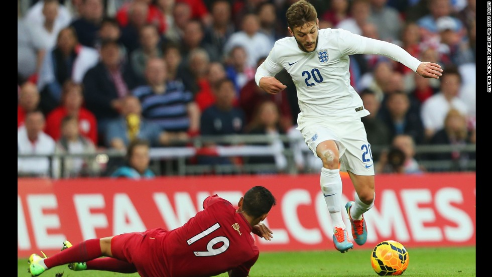 <strong>Adam Lallana (England):</strong> For the casual fan, the 26-year-old might not be among England's big names. Three years ago, he was playing in England's third division, and he hasn't scored in five caps. But he tallied 10 goals and six assists for an overachieving Southampton squad this season. As club captain, he's also displayed the leadership to complement his strong finishing, passing and tackling.