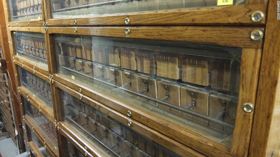 "The organ's restorers have taken care to replicate the original circuitry. ""In 100 years someone will easily be able to fix this,"" says enthusiast Dick Cuiper. ""They won't be able to find the microchips they need to mend the computers."""