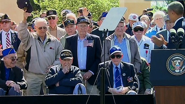 Obama pays tribute to D-Day veterans
