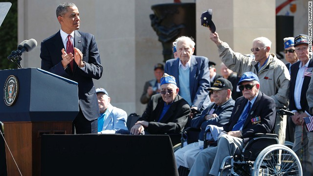 President Barack Obama speaks at the D-Day Anniversary