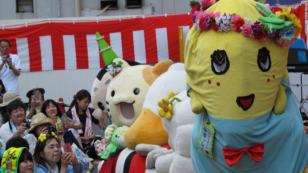 Since Funassyi's explosion in popularity, other mascots are imitating the mascot's wacky and wild style -- hoping to replicate his commercial success.