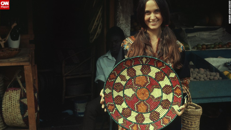 "Not everyone was nerdy. Peace Corps volunteers <a href=""http://ireport.cnn.com/docs/DOC-1139435 "">James Denbow</a> and his wife, Josie, pictured, had ""our first chance to encounter the wonderful world outside the United States"" in the '60s. This photo was taken in 1969 in Nairobi, Kenya, when they were 23 years old."