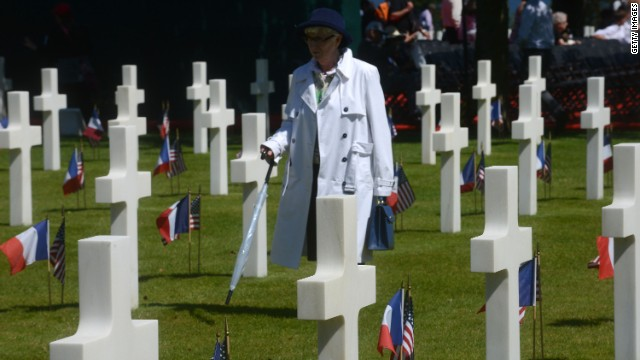 The Normandy American Cemetery on the 70th anniversary of D-Day June 6, 2014 in Colleville-sur-Mer, France.