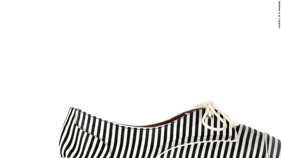 "Espadrilles are a chic, practical alternative to sandals—and they remind me of Jane Birkin. Tabitha Simmons Dolly striped silk espadrilles, <a href=""netaporter.com"" target=""_blank"">netaporter.com</a>"