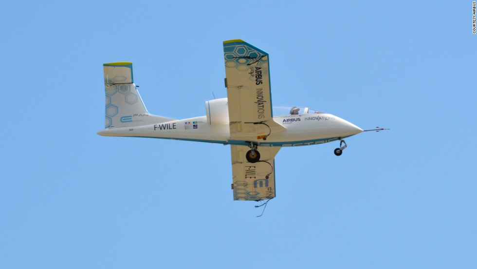 The Airbus hybrid 1.2 was preceded by a two-seater, all-electric aircraft called the E-Fan 1.1.