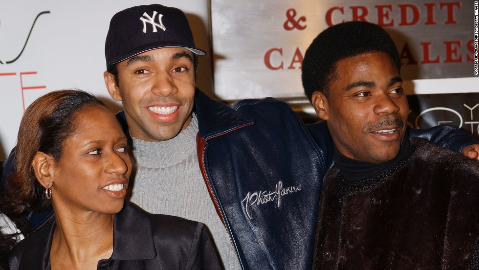 "Morgan's acting career branched out from television to include movie titles such as ""30 Years To Life.""  Director Vanessa Middleton, left, appeared with  Allen Payne and Morgan at the premiere on March 27, 2002."