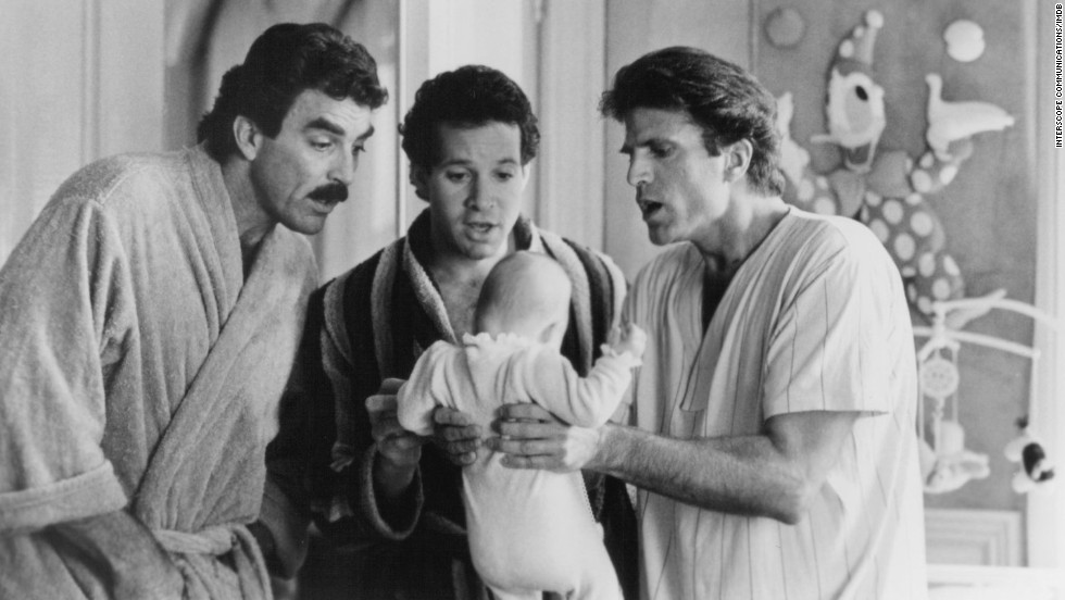 """<strong>""""3 Men and a Baby"""": </strong>Tom Selleck, Steve Guttenberg and Ted Danson star in the 1987 comedy that chronicles how their characters' bachelor tendencies are turned upside-down when a baby is left on their doorstep."""