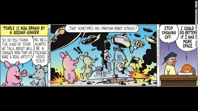 """Bill Waterson, of """"Calvin and Hobbes"""" fame, is filling in for illustrator Stephen Pastis for the comic """"Pearls before Swine."""""""