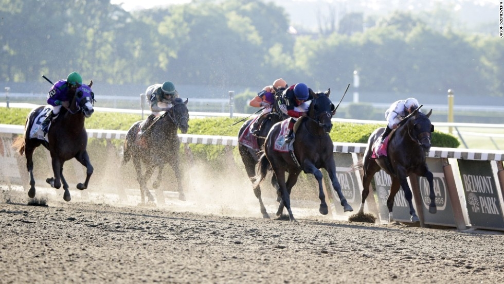 But it wasn't to be as California Chrome finished fourth at Belmont Park to narrowly miss out on becoming the first horse since 1978 to claim the Triple Crown.