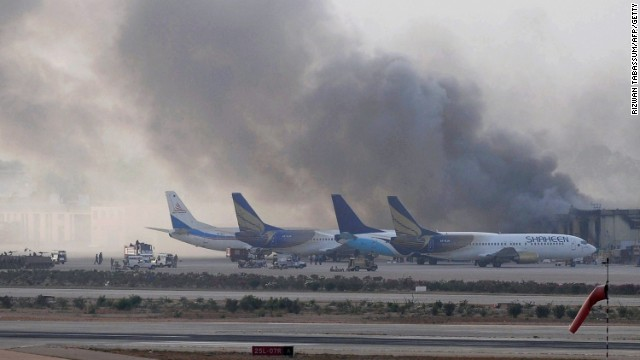 Taliban attack Pakistan airport