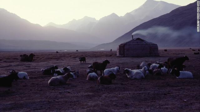 A Tajik nomadic yurt near the Afghan border.