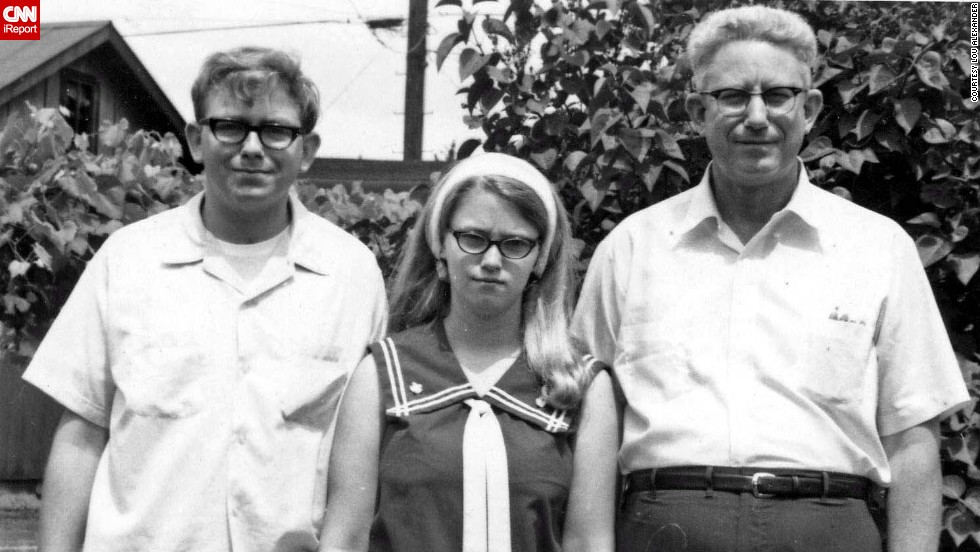 "Here's Lou Alexander, left, with his sister and father just before leaving for Indiana University in 1967. ""The personal highlight of those years for me was leaving home, starting college and then my first job after college,"" he said. ""I marched some, against the war and for civil rights, but I was mostly a Norman Normal, going to school, working and moving into adulthood."""