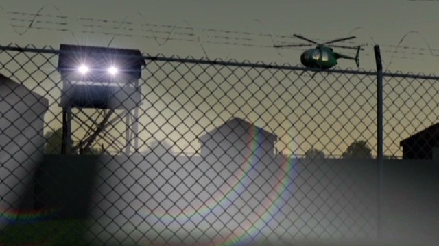 How could inmates escape via helicopter?
