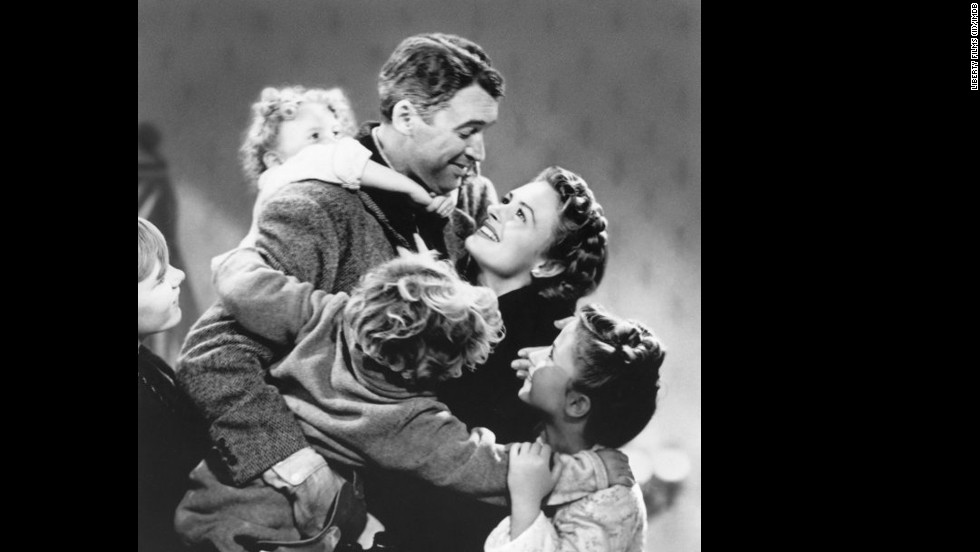 "<strong>""It's a Wonderful Life"" (1946): </strong>There are at least two reasons why this Frank Capra classic with James Stewart and Donna Reed always pulls at the heartstrings: 1) It's centered around the holidays, a season known to bring on the tears; and 2) It answers that existential question, ""What would life be like if I weren't here?"" with a joy-filled family reunion. Hugs never looked so good."