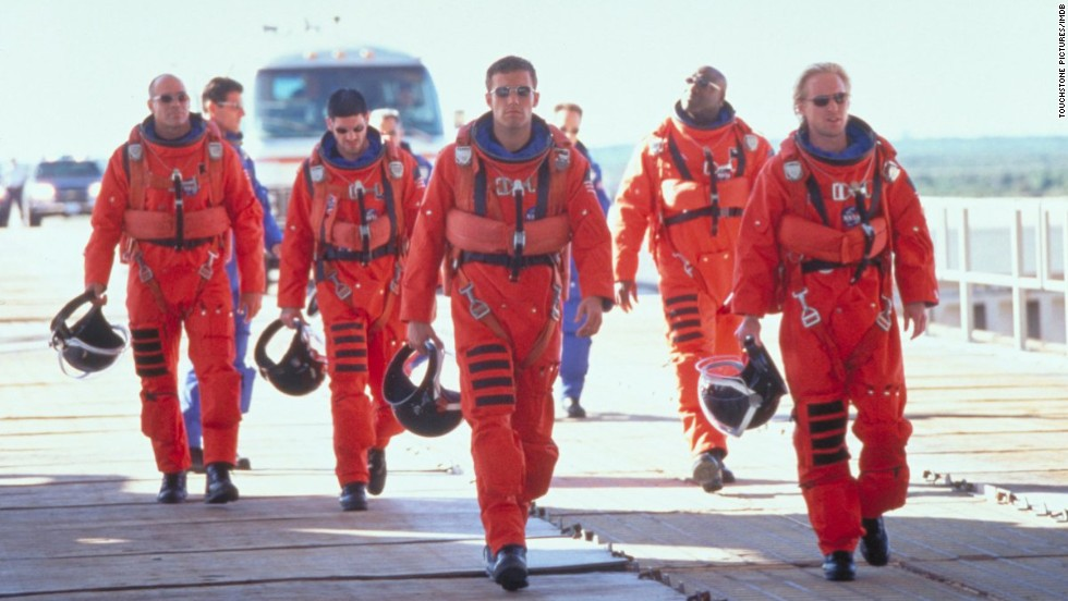 "<strong>""Armageddon"" (1998)</strong>: Maybe it's Steven Tyler wailing about not wanting to miss a thing, the bond between a group of guys daring to do something crazy, or the love story subplot, but we admit that ""Armageddon"" makes us misty."