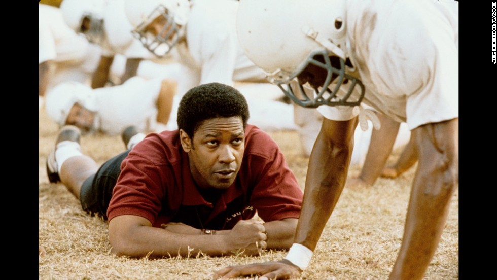 "<strong>""Remember the Titans"" (2000)</strong>: To be clear, Denzel Washington has a track record of making us cry with his movies, but ""Remember the Titans"" is one of the standouts. Like ""Brian's Song,"" it has an emotionally powerful plot: the drama of sport, the angst of high school, and the triumph of overpowering  insidious racism."
