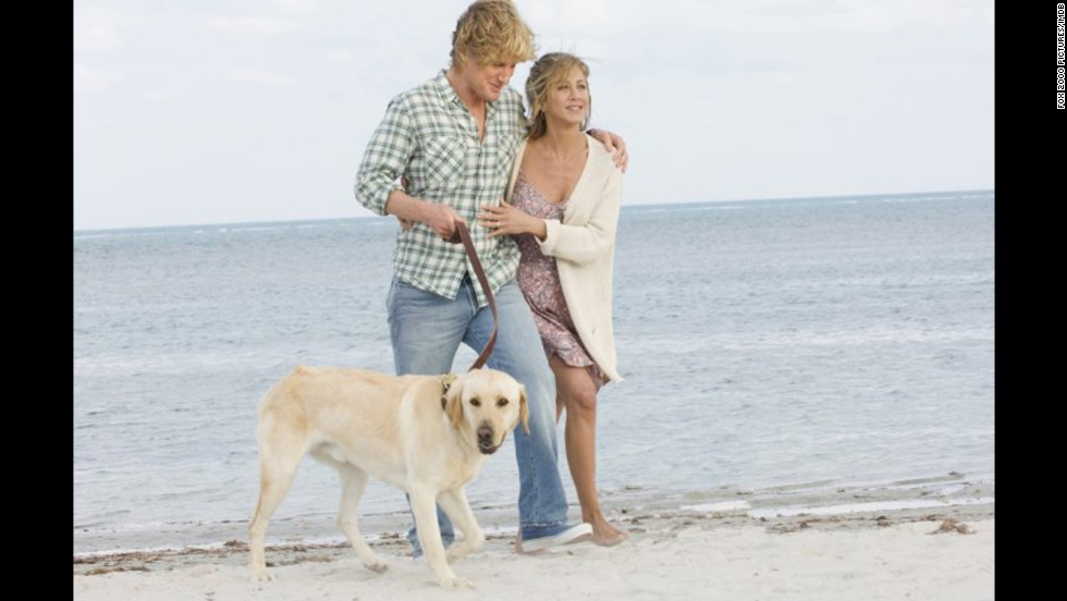 """<strong>""""Marley & Me"""" (2008)</strong>: This comedy starring Owen Wilson and Jennifer Aniston hits home for all the people who've raised, loved and lost a furry, four-legged member of the family."""