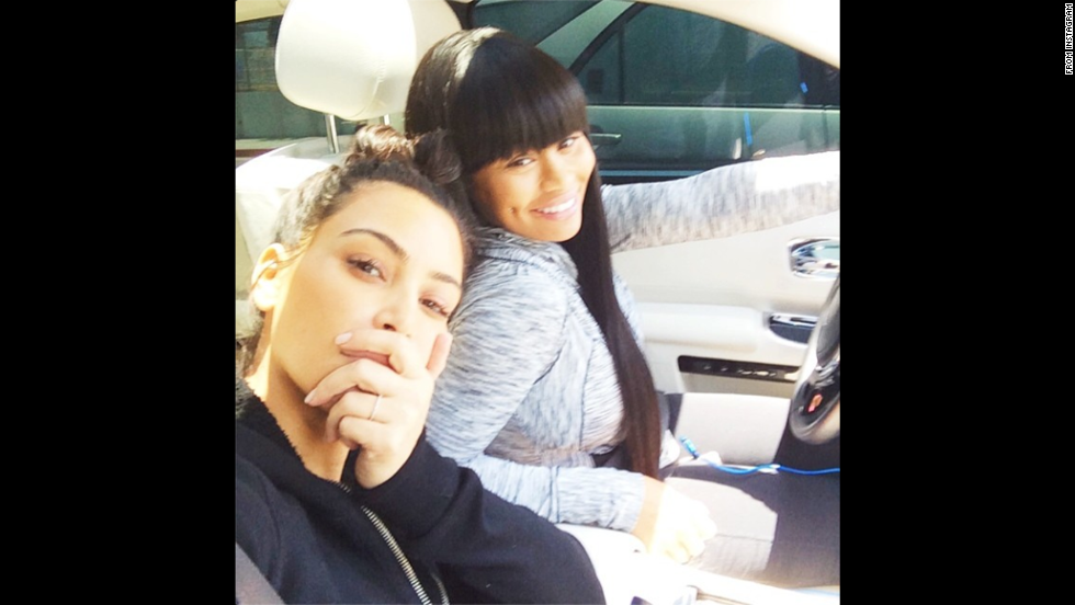 """Model Blac Chyna, right, <a href=""""http://instagram.com/p/o6yV12xvgT/"""" target=""""_blank"""">poses with her pal Kim Kardashian</a> during what she called a """"yay day"""" on Friday, June 6."""