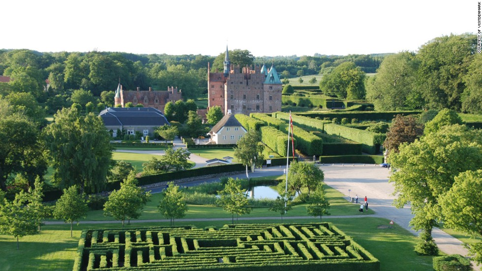 Beautiful from the outside, frustrating on the inside. Among the gardens at Denmark's Egeskov Castle are four hedge mazes.