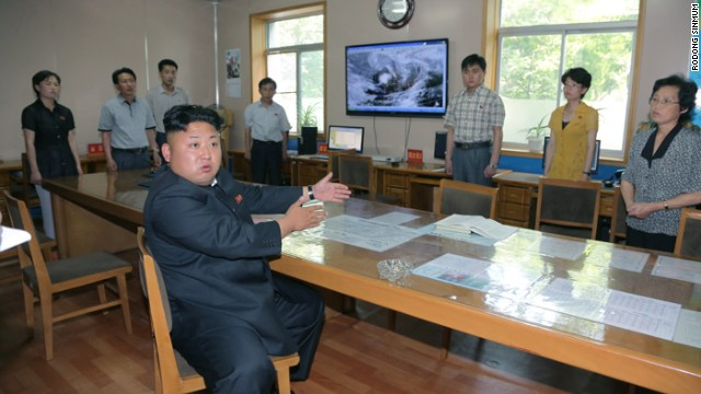 "The photos of ""Kim Jong Un Angry at Weather Forecasters"" is being used under fair use guidelines. This means that you must write specifically to the clip, use only as much as is needed to make your editorial point, no use in promos, bumps or teases. Must font ""Rodong Sinmum"". Please consult your assigned attorney if you have questions."
