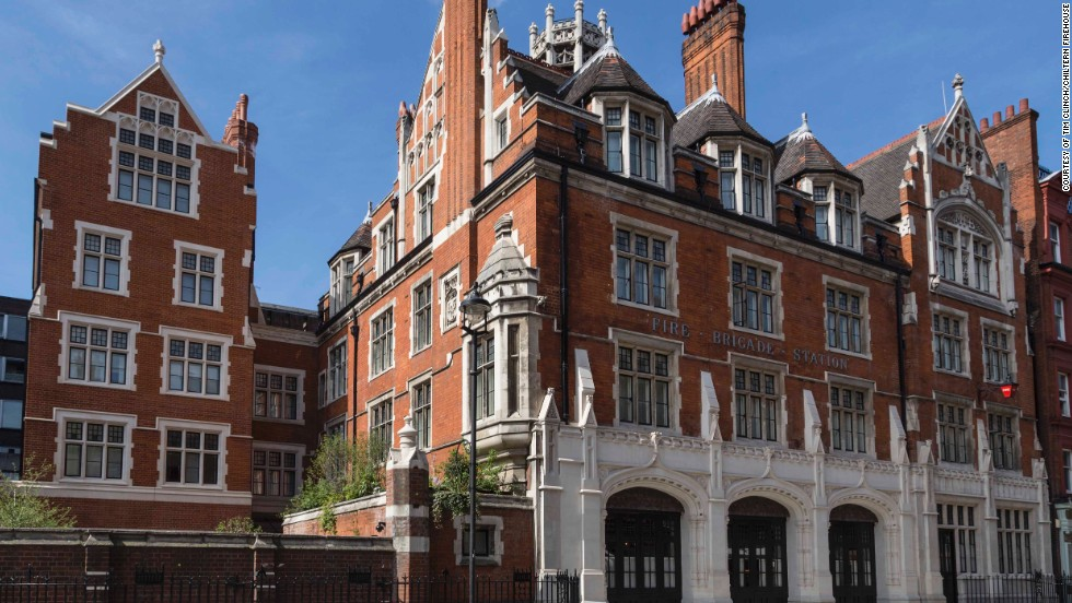 Located in a former fire station, the Chiltern Firehouse in London's swanky Marylebone district is a favorite with Hollywood stars, and occasionally staked-out by paparazzi.
