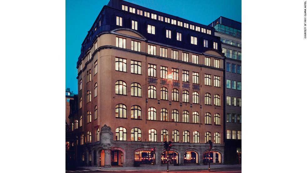Another classic building reinvented as a hotel. Stockholm's Miss Clara Hotel was a girls' school in a former life.