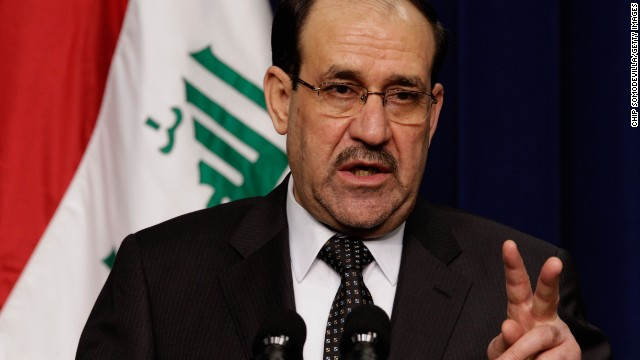 WASHINGTON, DC - DECEMBER 12: Iraqi Prime Minister Nouri Al-Maliki answers reporters' questions during a news conference with U.S. President Barack Obama in the Eisenhower Executive Office Building next to the White House December 12, 2011 in Washington, DC. Al-Maliki is in Washington for talks ahead of the December 31 full withdrawal of U.S. troops from Iraq and the end of a deeply divisive nine-year war. (Photo by Chip Somodevilla/Getty Images)