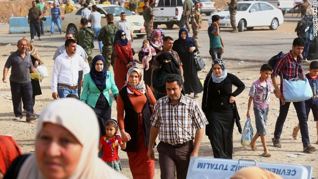More than 1 million people have been displaced by fighting in Iraq so far this year.