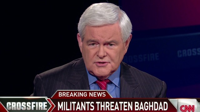 Crossfire Gingrich: We have no choice: we must use airstrikes in Iraq_00001313.jpg