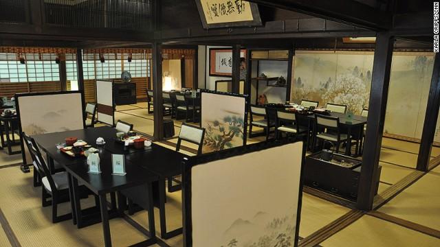 Breakfast room at Fudoin Temple on Koyasan.