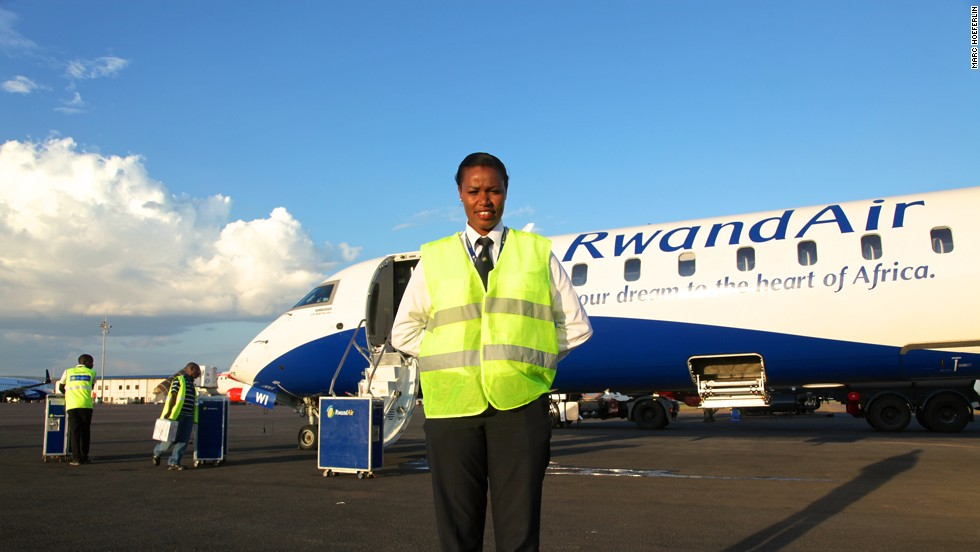 "A typical day sees the 26-year-old on duty for an often exhausting 12-hour shift but after achieving her lifelong ambition of being up in the clouds, Mbabazi wouldn't change a single thing. ""If you're in a field that you are really, you have passion for it. You can't wait for what tomorrow is going to bring for you, for me, that's my biggest achievement -- to be in a place whereby I'm happy."""