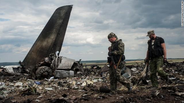 Official: Ukrainian plane shot down
