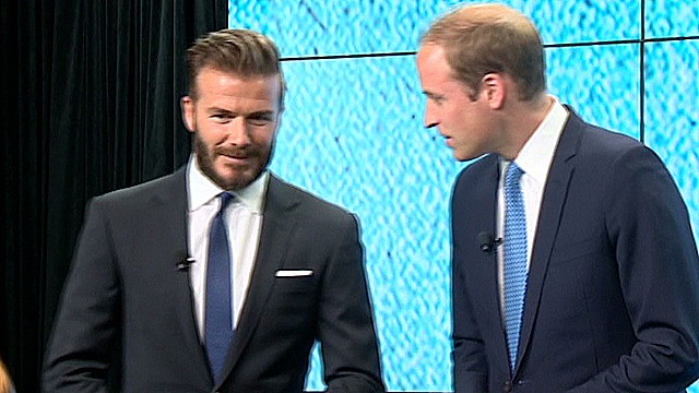 2014: Prince William, Beckham join forces