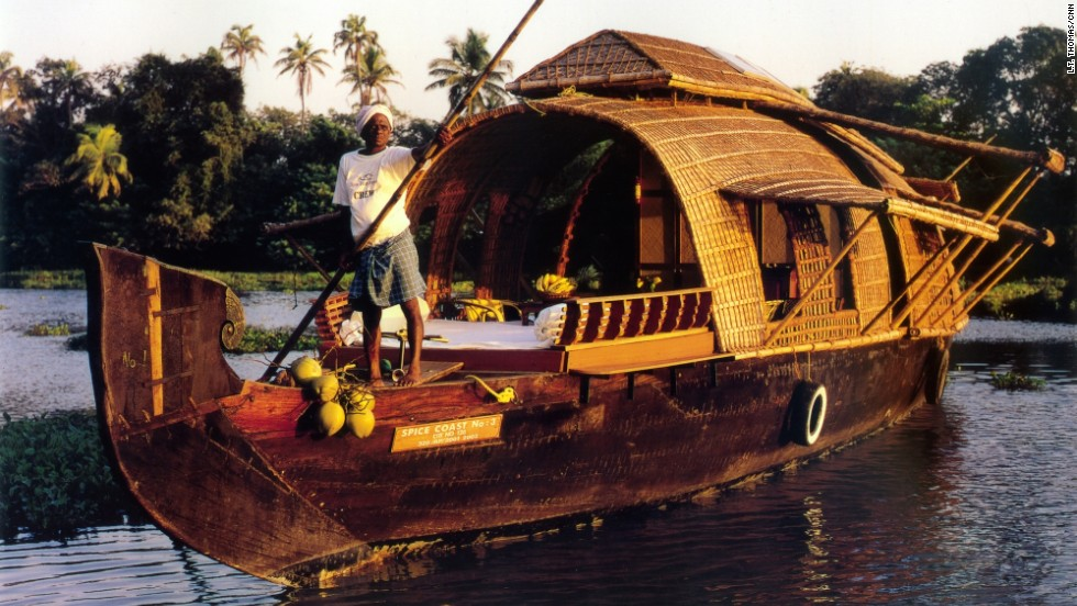 Companies such as Spice Coast Cruises offer overnight journeys through the backwaters on traditional houseboats.