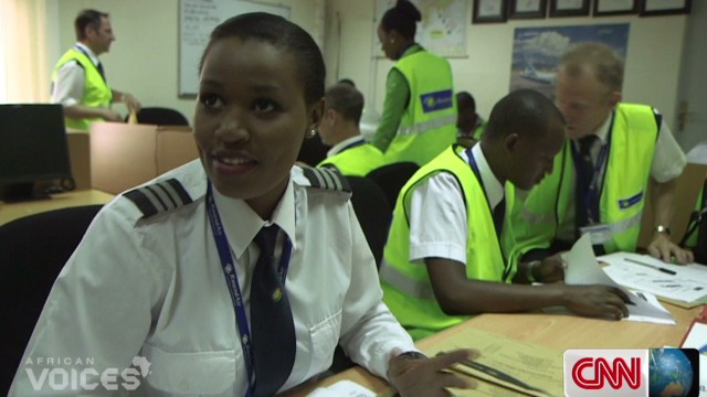 Meet Rwanda's first female pilot