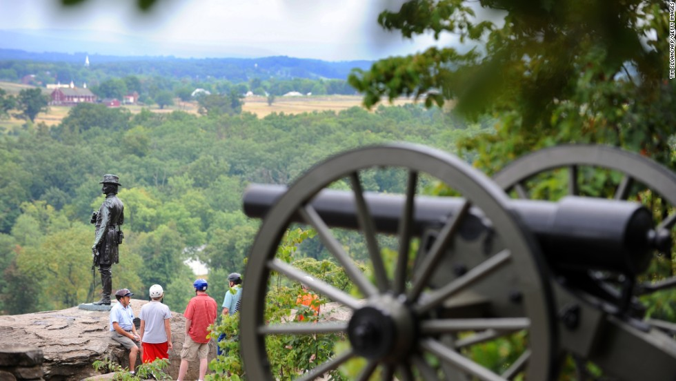 The site of the U.S. Civil War's bloodiest battle, Gettysburg National Military Park in Pennsylvania, was ninth on TripAdvisor's Top World Landmarks rankings and first in the Top U.S. Landmarks rankings.